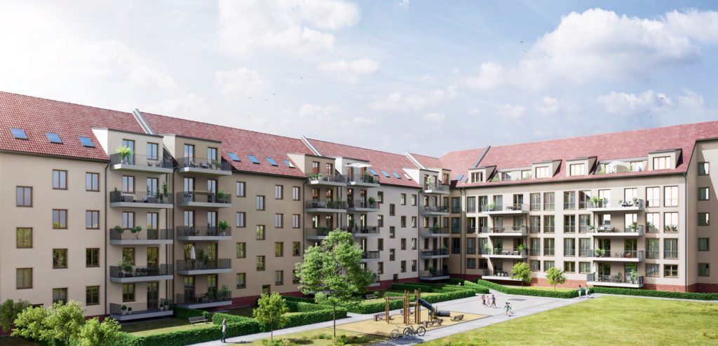 D17 pilot project in Plagwitz, Leipzig – this is what the first building made from EMC prefabricated components will look like (image may differ from final building)